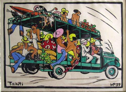 En truck à la presqu'île Grav aquarellée 18x25 1939