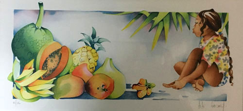 N°4 Les fruits Lithographie EA 27X40