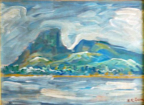 GOUWE Paysage de Bora Bora HST 28x38