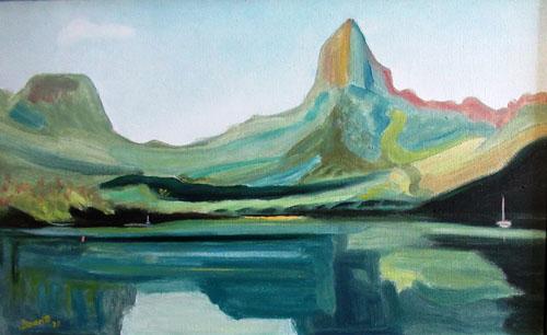 N°10 Baie d'Opunohu N°911 HST 33X55