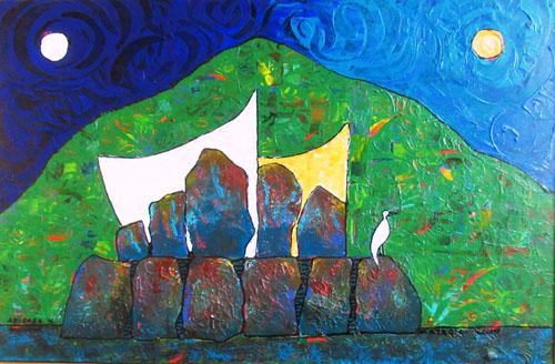 Ariipaea 54x68 Acrylique sur toile
