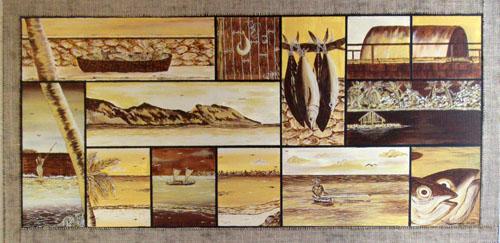 Tinomano Orio te atua 100x50 Acrylique sur toile