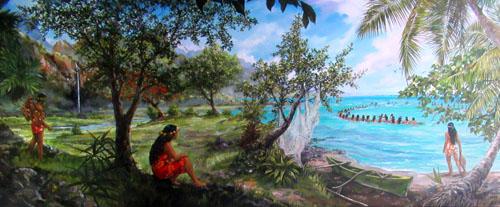 N°2 Pêche dans les îles 49x102 HST