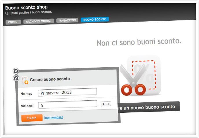 Jimdo Business - genera il buono sconto per il tuo negozio online