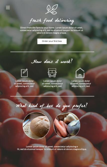 Un esempio di sito con una struttura chiara e gerarchia visuale