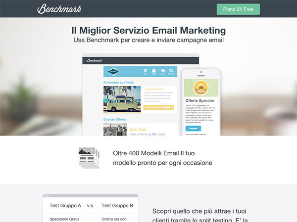 Una campagna di Email Marketing efficace inizia con un sistema professionale.