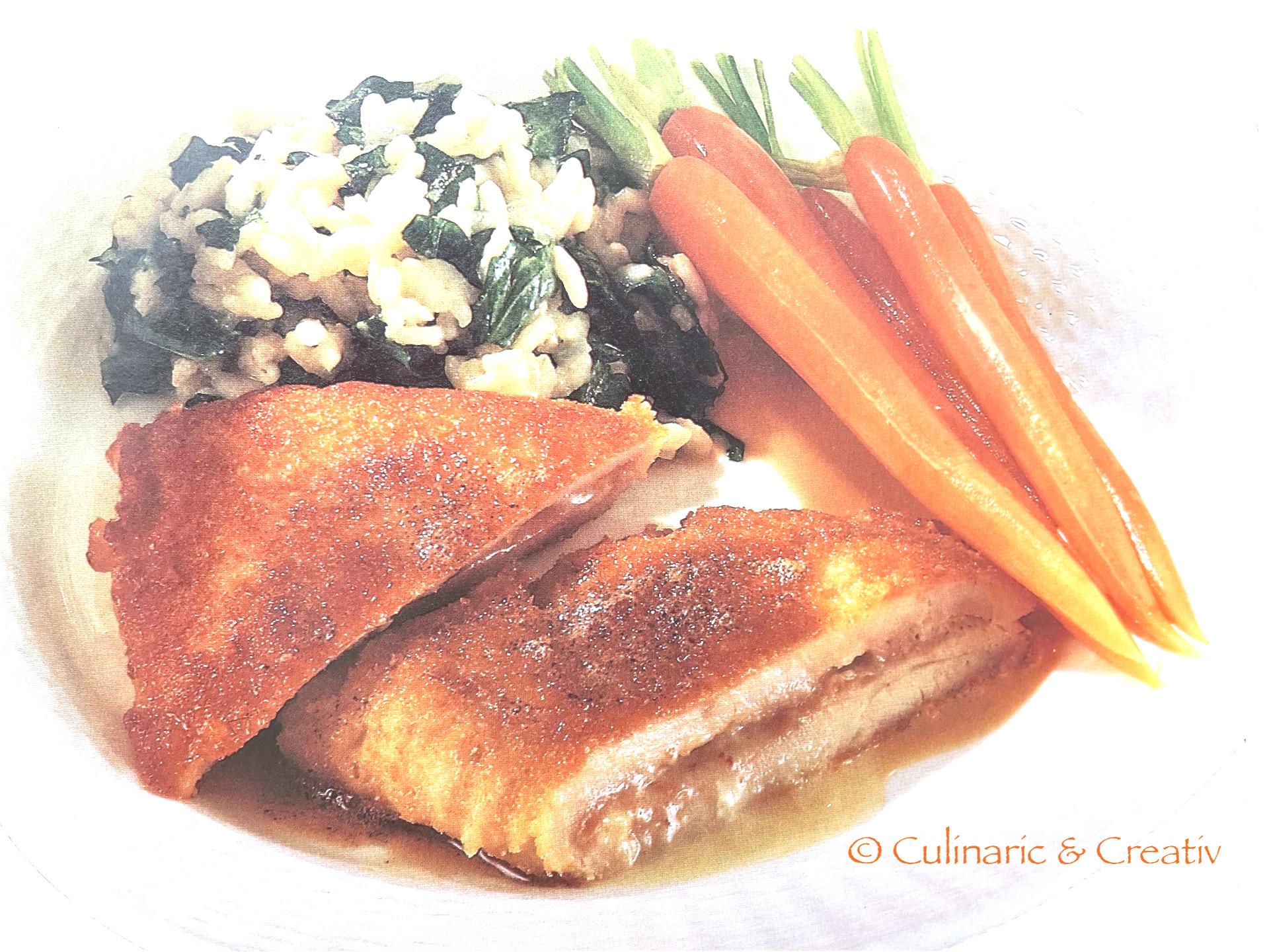Putenschnitzel mit Bärlauch-Risotto