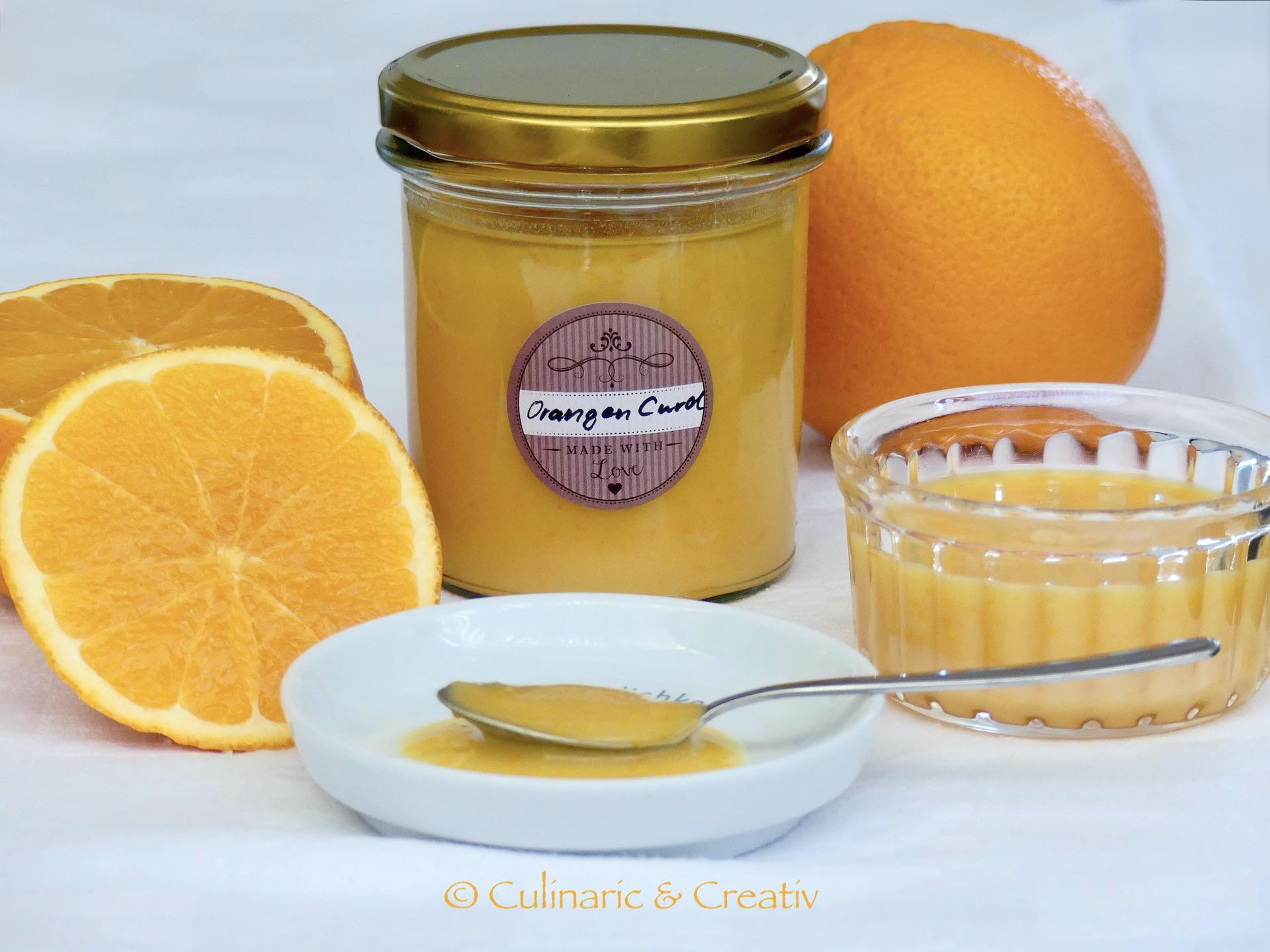 Orangen Curd mit Eigelb