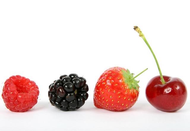 Erdbeere, Brombeere, Himbeere