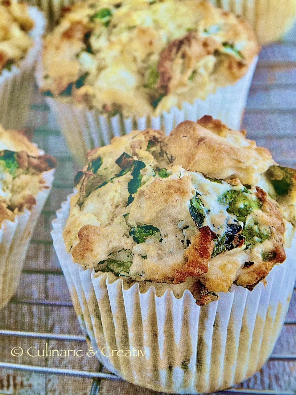 Feta-Muffins mit Spinat und Quinoa