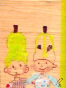 洋梨兄弟/キャンバス COPIC MULTI LINER マスキングテープ 2012,6.17
