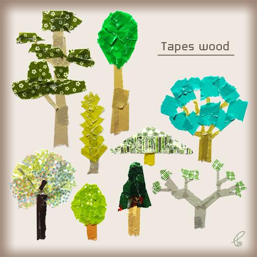 Tapes wood/マスキングテープ PhotoshopCS6 2016,2.10