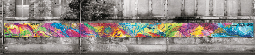 Odeg- Tack, bandeau rue Peyronnet, Bordeaux, 2015