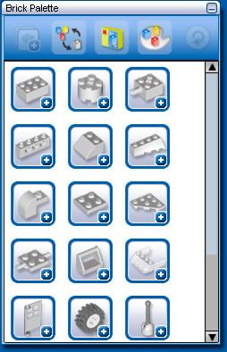 Выбор элементов для сборки модели.