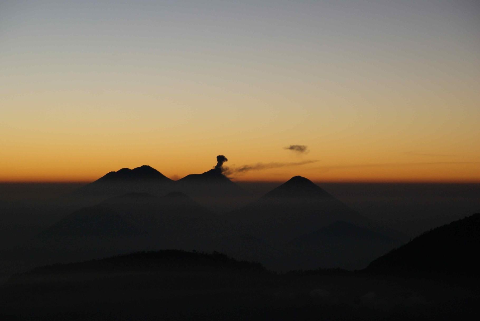 Eruption of Volcán de Fuego, Guatemala