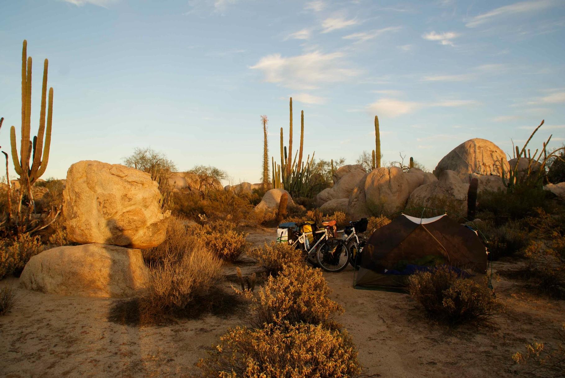 Campsite, Desert of Baja California, Mexico