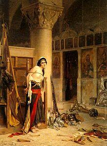 El botín. Pintura de Theodoros Rallis.
