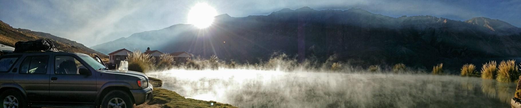 Morgenstimmung beim Ojo de Inca