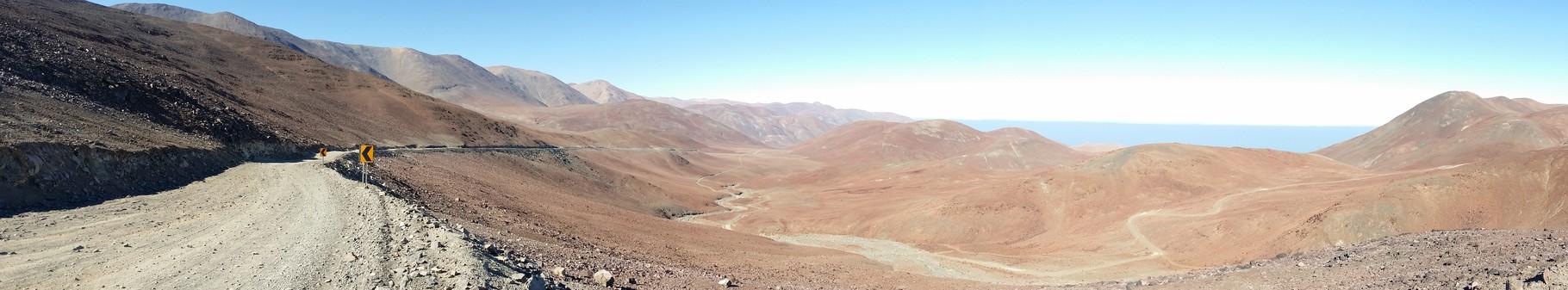 von der Ruta 1 nach Antofagasta über die Hügel