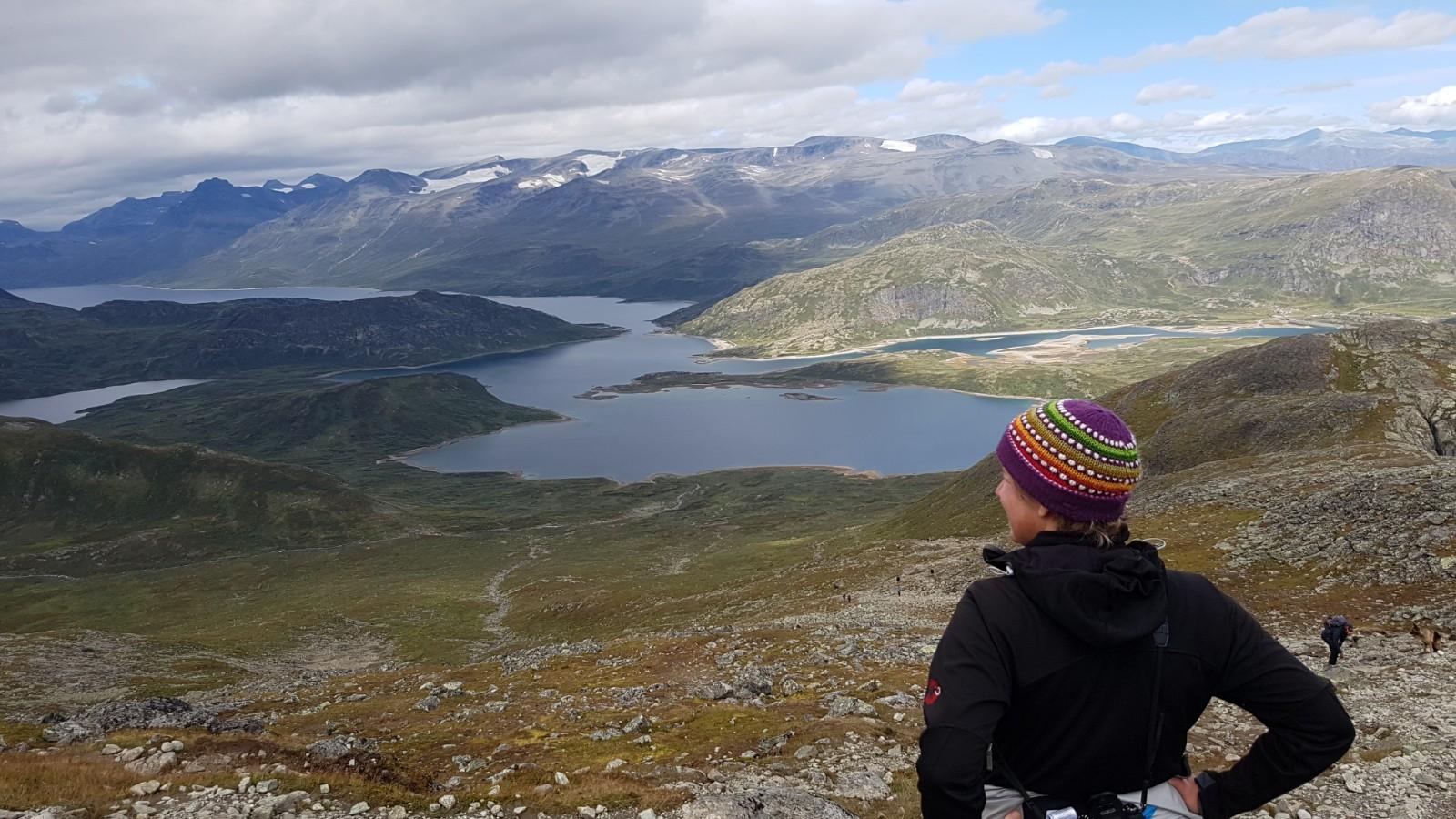 Blick vom Bitihorn über die Seen von Valdres