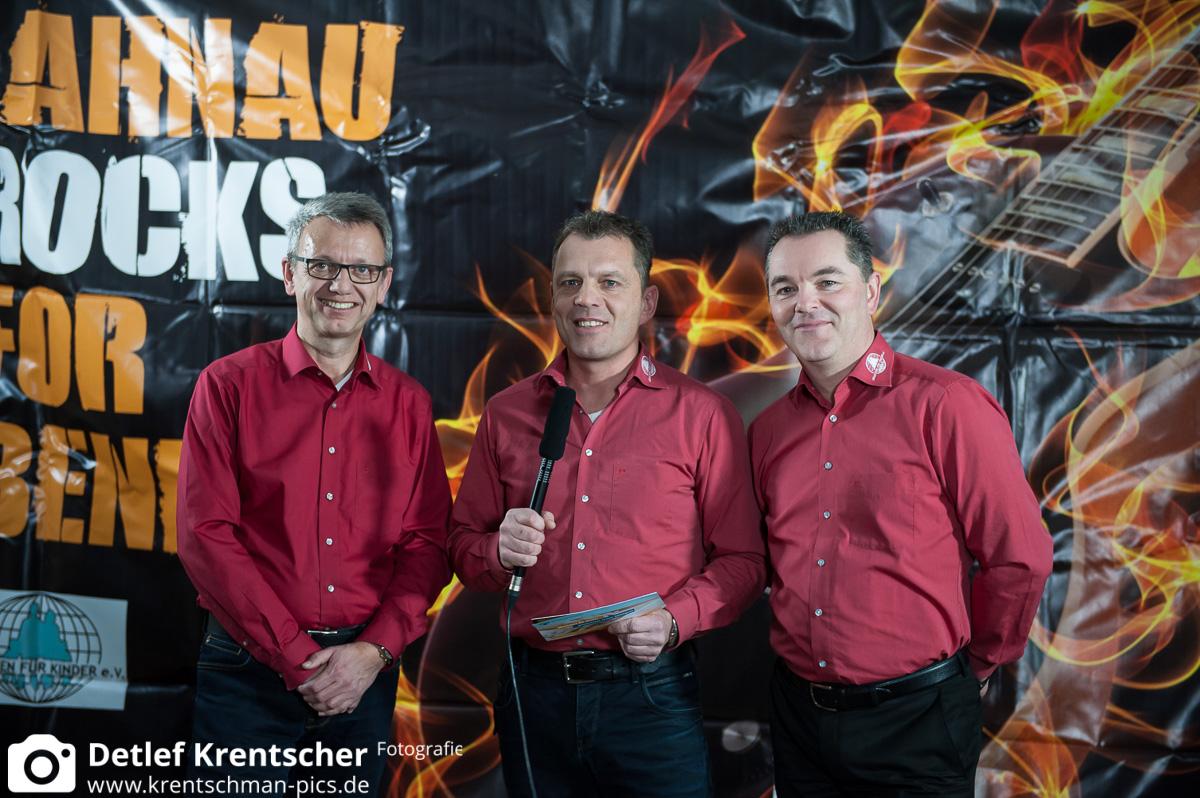 Matthias Späth, Stefan Zeiger und Dieter Greilich nach dem Interview