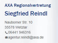 Getränke-Pate AXA Siefried Reindl