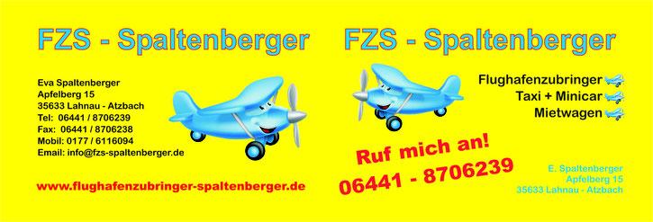 Merchandising-Pate Flughafenzubringer Spaltenberger