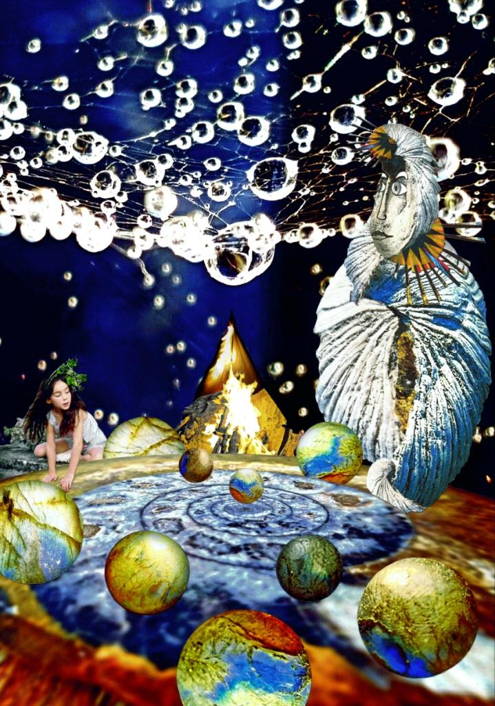 La nuit des jours à venir Auteur Hervé Arnoul, illustrations et photographies Hervé Arnoul. Petite fille Eleonore Arnoul Pereira. Rajapoorna.