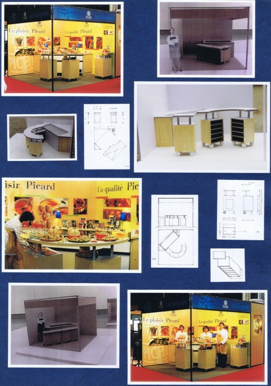 Agence Vitriol, conception et maquettes Hervé Arnoul stand Picard Surgelés, salon de la gastronomie de Lyon.