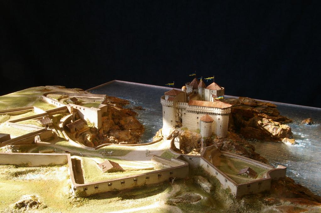 Huet Holdings, reconstitution du Vieux Château de l'Ile d'Yeu au XIVème s  1/200e.Réalisation Hervé Arnoul