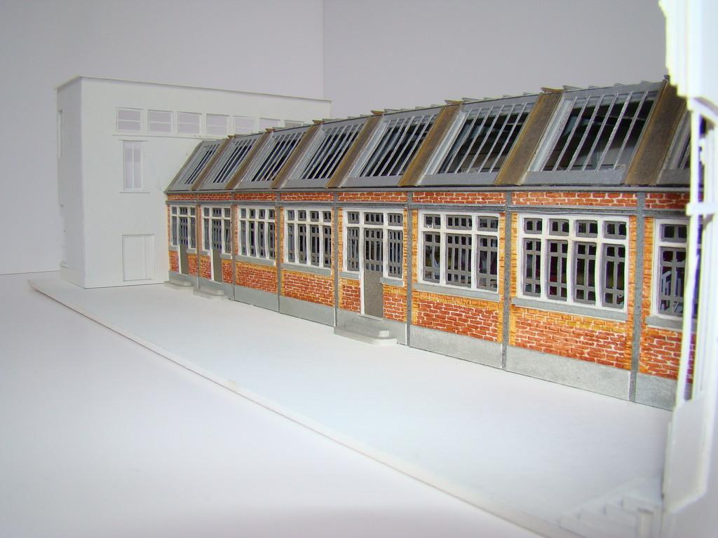 Mairie de Paris (AEA DPA), maquette de l'atelier de modelage de l'école Boule.Réalisation Hervé Arnoul