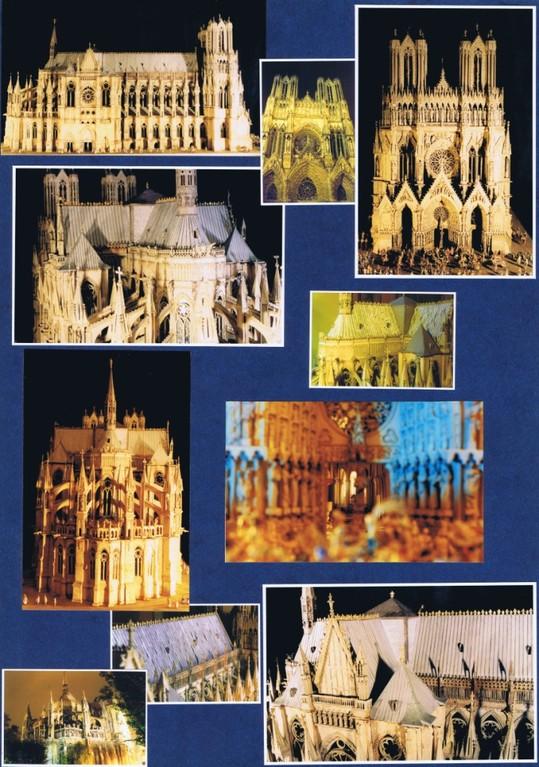 Musée Le Vergeur, étude et restauration de la maquette de la cathédrale de Reims (XVIIIème s).Restauration Hervé Arnoul.