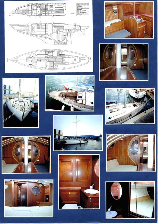 Restauration voilier de couse ORYX . Relevé de plan, conception intérieure et suivi de la réalisation Hervé Arnoul pour IMS.
