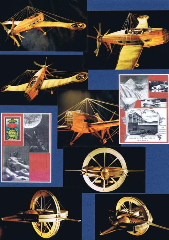 Interprétation Mobile Jules Verne. Création Hervé Arnoul.Aviation et Espace.
