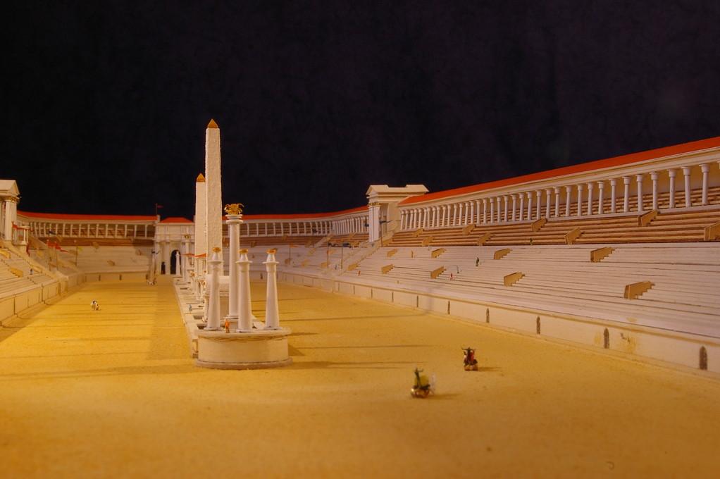 Musée du trot, Société du Cheval Français, reconstitution du Circus Maximus 1/400e réalisation Hervé Arnoul