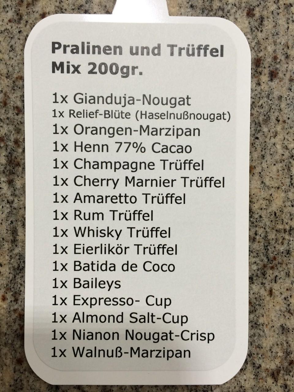 Etikett für Trüffel-Mix