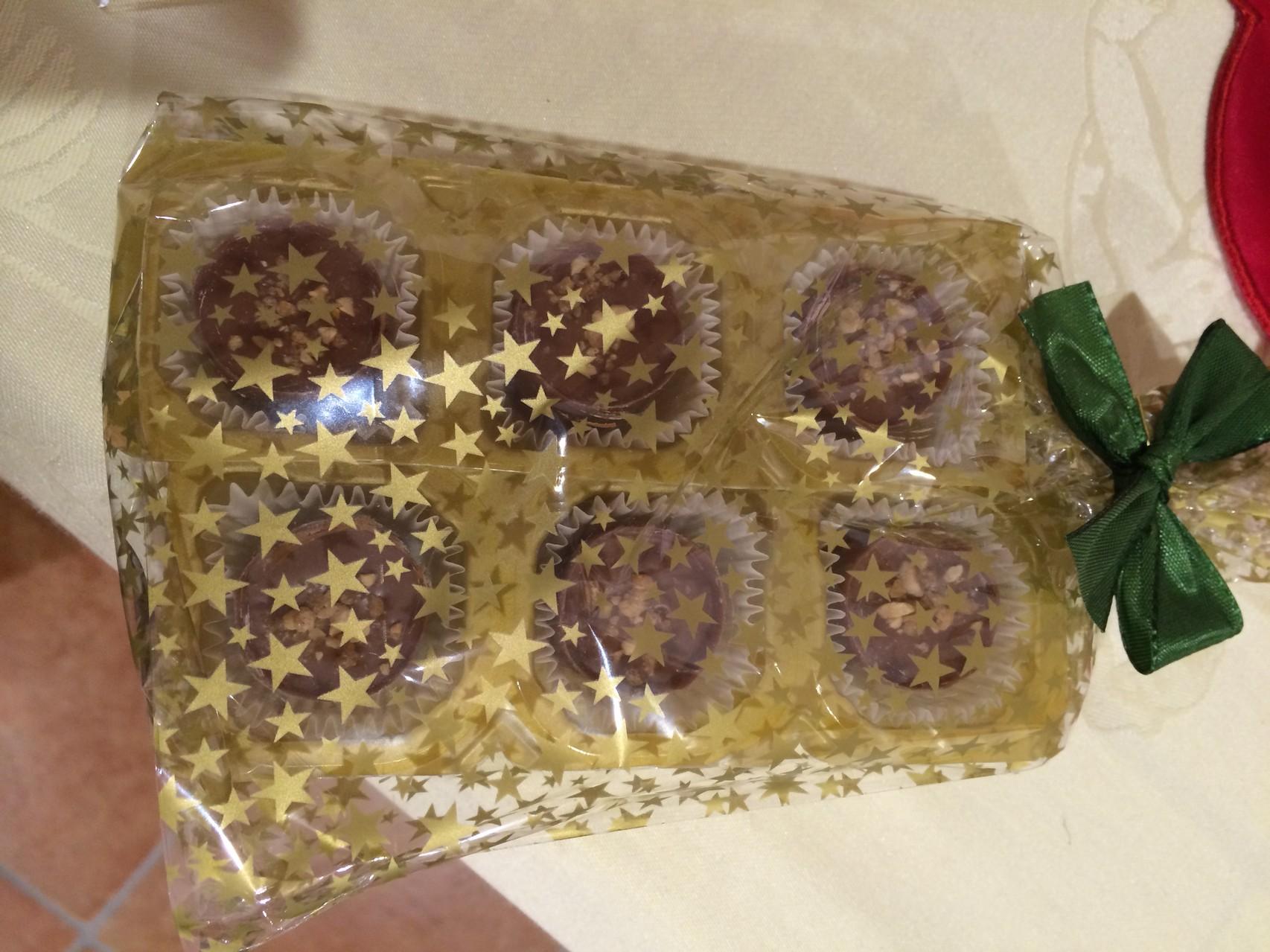 Dessertpralinen verpackt
