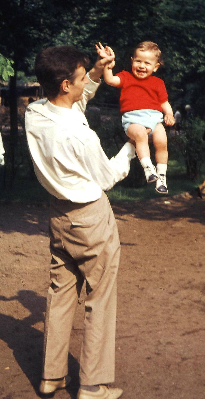 mit seinem Vater