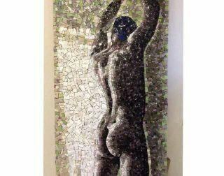 Mosaico para frontal de cuarto de baño,medidas 100 x 200