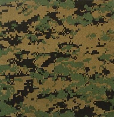US Army Marine Digital Woodland Tarnfarbe Diese Färbung wird vom US Marine Corps verwendet und ist eine verpixelte Version der Woodland Tarnfarben. Die Pixel des sorgen dafür, dass die Konturen sehr r