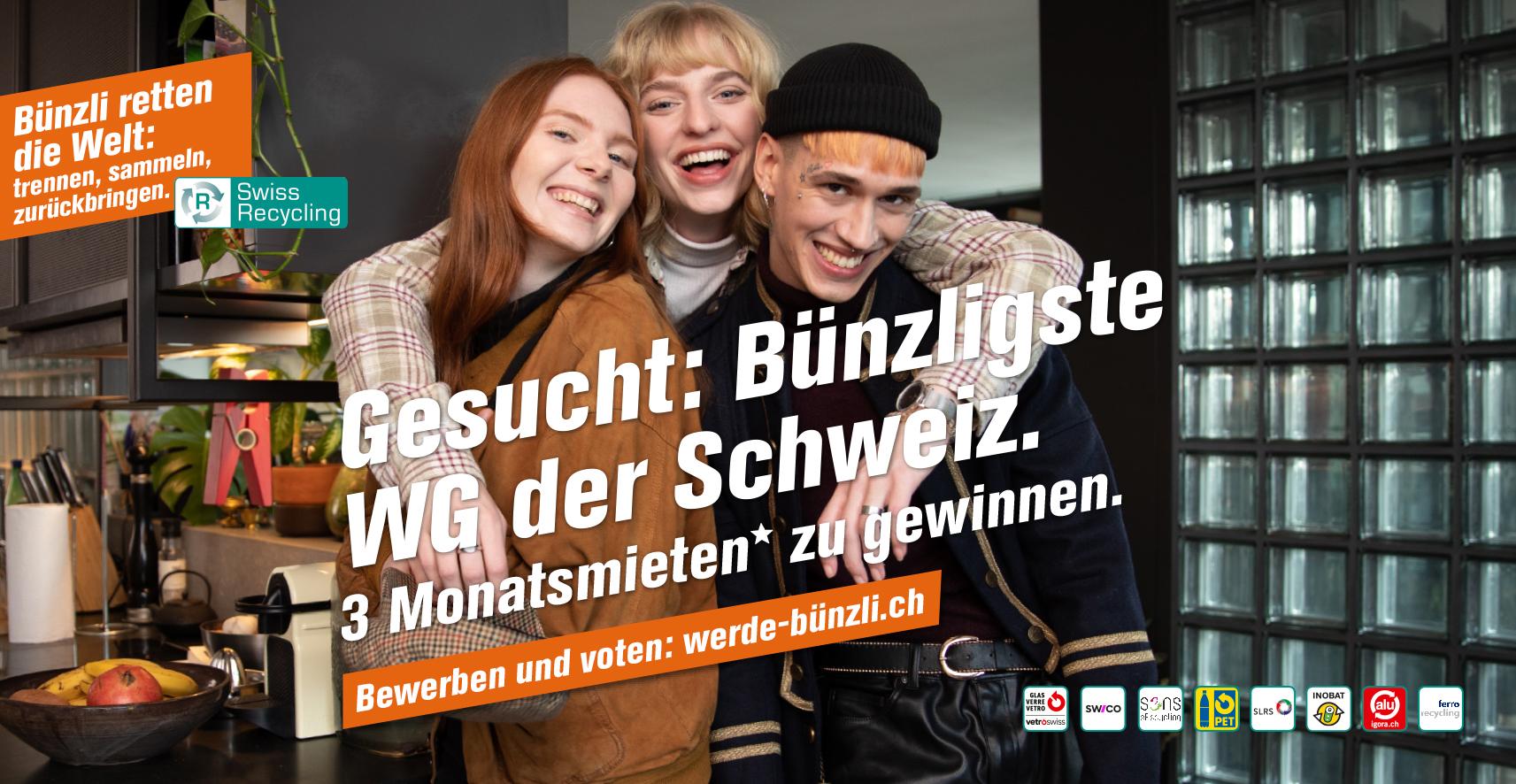 """Swiss Recycling sucht die """"Bünzligste WG der Schweiz"""""""