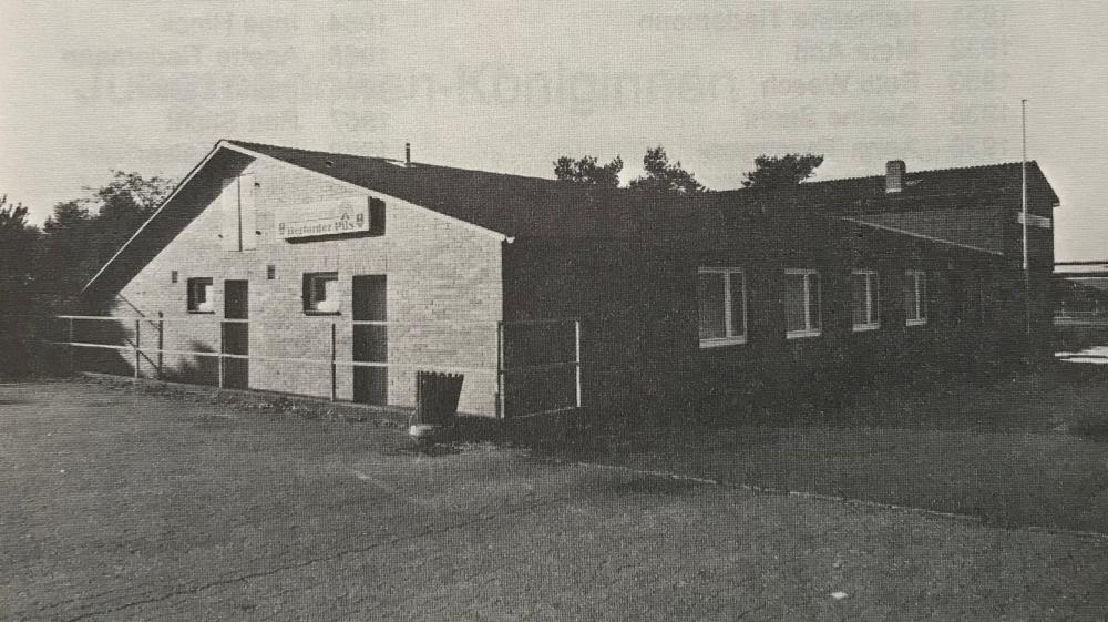 Die Lamstedter Schützenhalle nach Abschluss der Umbauarbeiten 1980.