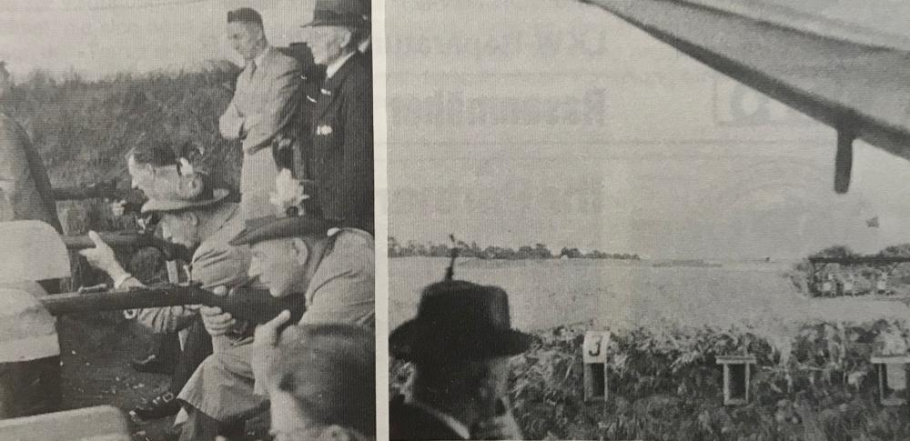 Foto: Ab 1952 konnte wieder mit Kleinkalibergewehren auf dem vereinseigenen Schießstand geschossen werden.