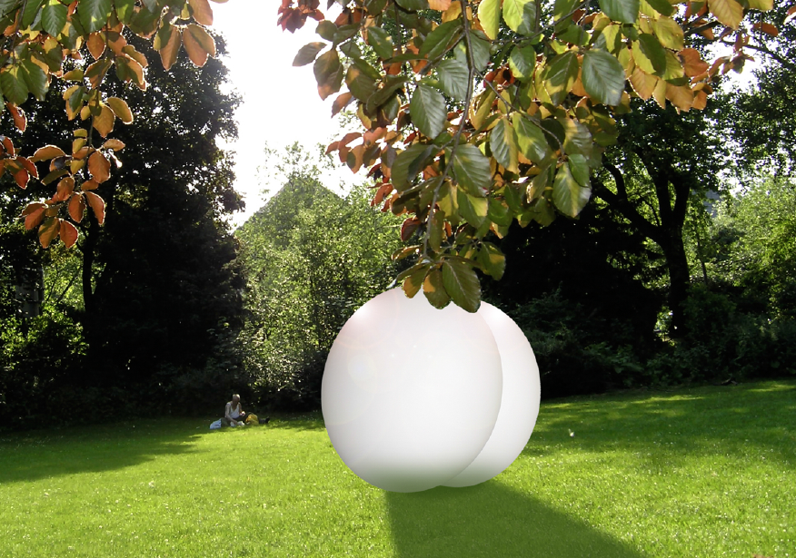 Idea for a walkable sculpture for the Düsseldorf Hofgartenn, 2009