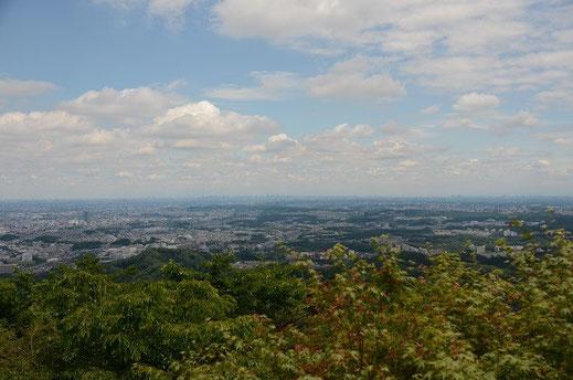 高尾山から都心(横浜・千葉方向)