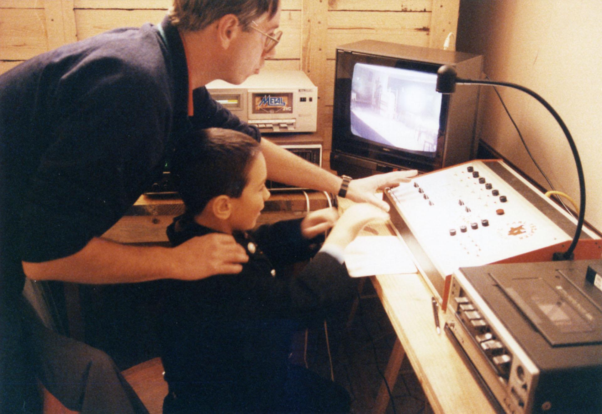 1989: Erste Einschulung des Technik-Nachwuchs Thomas Rittler