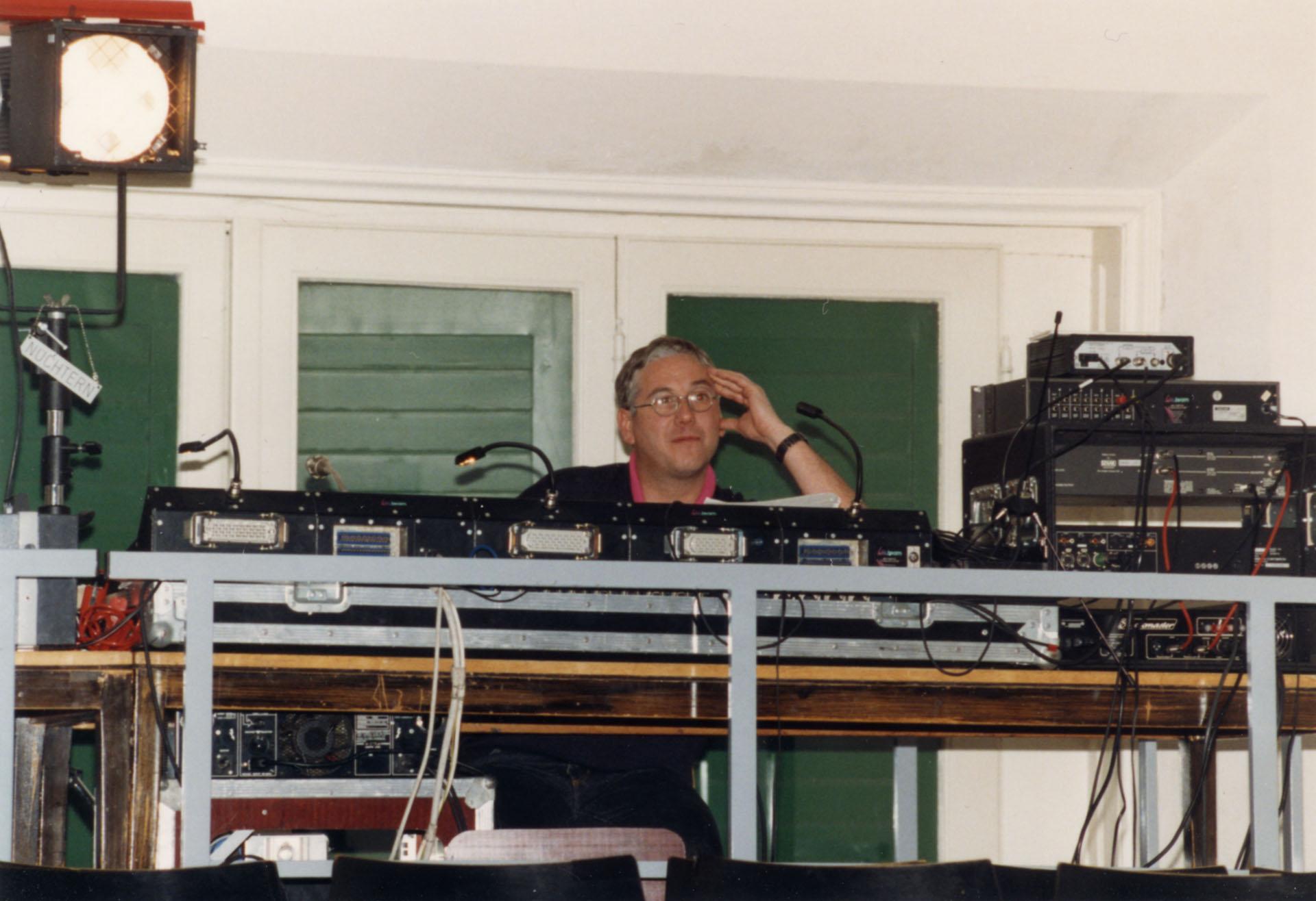 Licht- und Tontechnik: Wolfgang Schön bei Confetti 1993