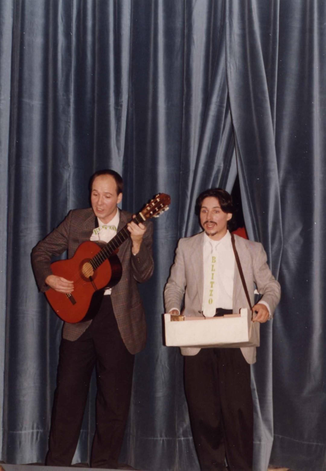 """1993: Blitzo (Pirron und Knapp) bei """"Confetti"""""""