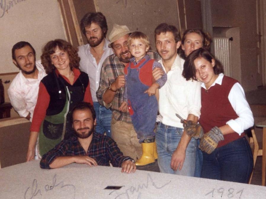 1981: Noch hinter der Bühne beim Kulissenbau