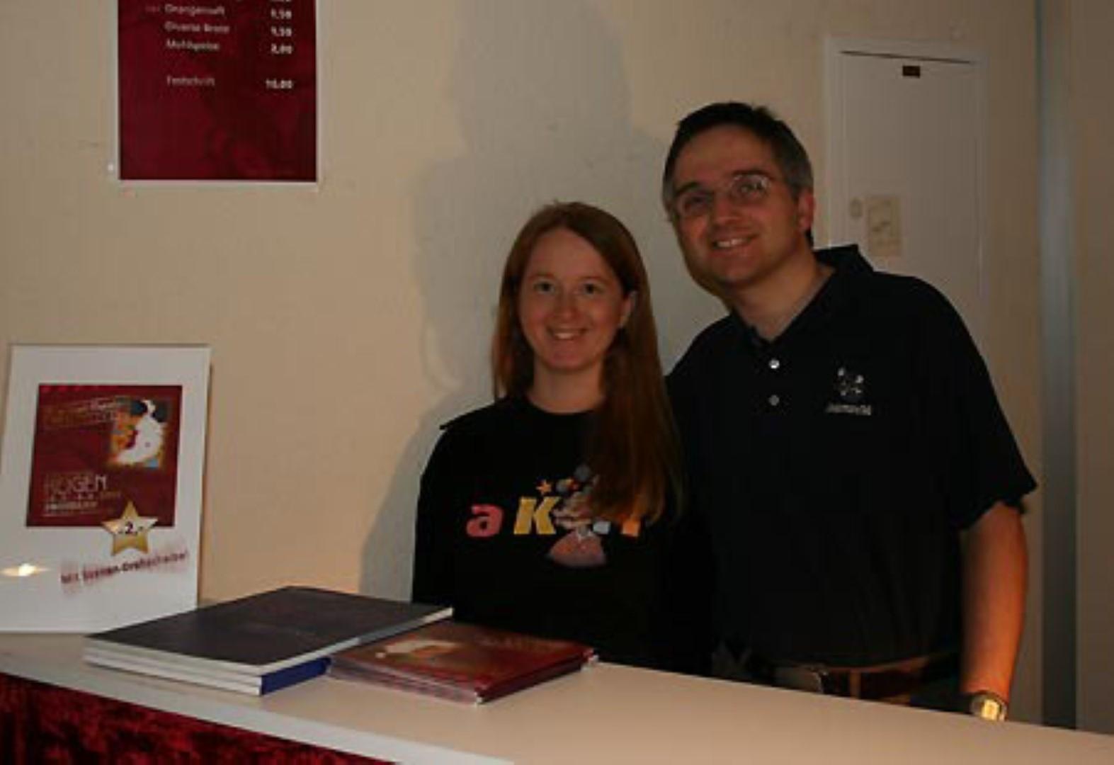 """2009: Kassa mit Christian beim """"Reigen"""""""